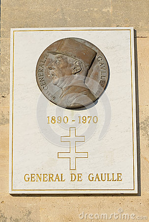 Memorial of General de Gaulle Editorial Stock Photo