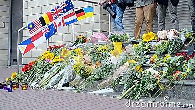 Memorial memorável, embaixada dos Países Baixos (Kiev), video estoque