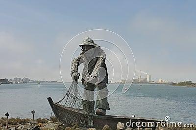 memorial statue of The Fisherman Editorial Stock Image