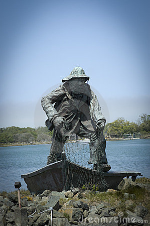 Memorial statue of The Fisherman Editorial Stock Photo