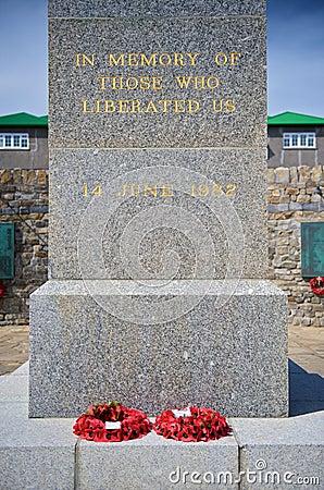 The memorial to the 1982 Falklands War