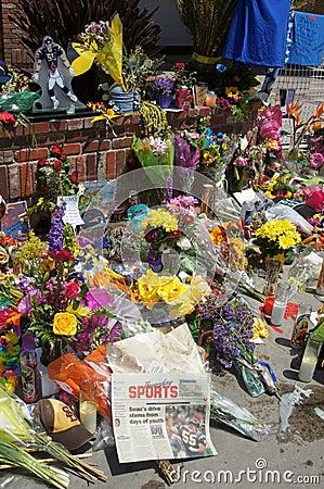 Memorial to Junior Seau in Oceanside, California Editorial Stock Photo