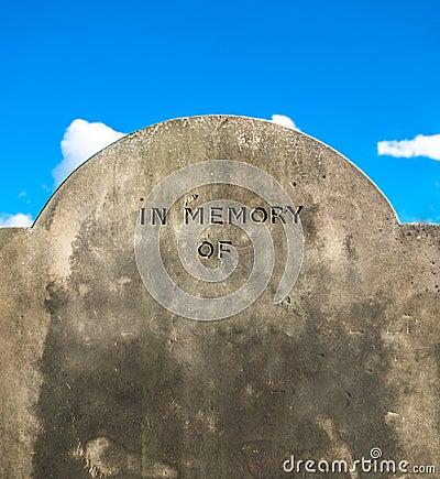 In Memory Of