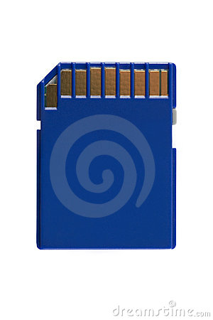 Memory Card with clipping path