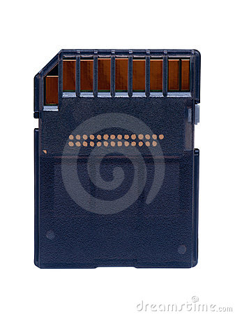 Memory card closeup isolated.