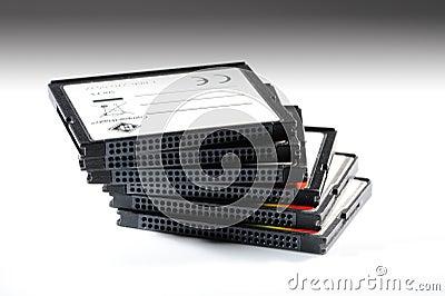 Memory card pile