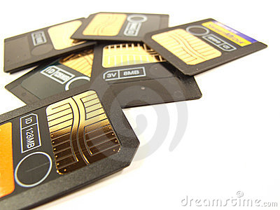 Memory Cards Lot Royalty Free Stock Photo - Image: 579735