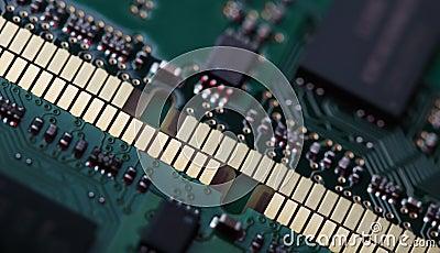 Memory modules close-up