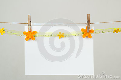 Memory note paper with flowers