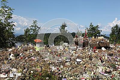 Memory of victims of Norway attack at island Utoya Editorial Photo