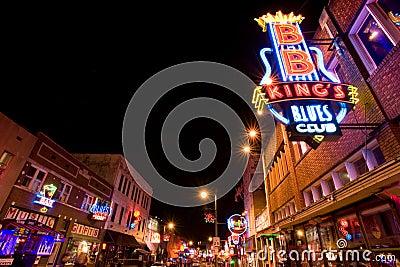 Memphis blues clubs Editorial Photo
