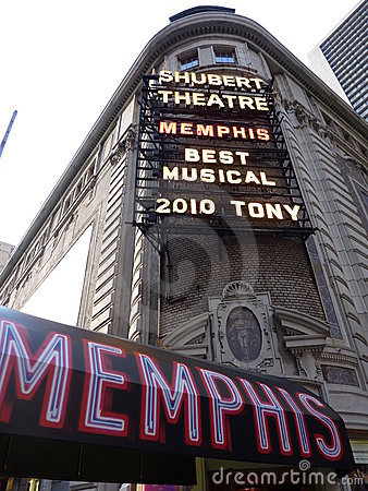 Memphis musical at Shubert theatre, Broadway Editorial Stock Photo