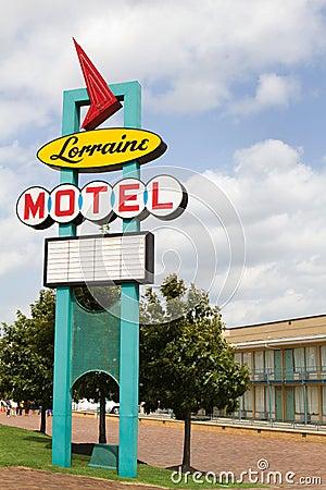 Lorraine Motel Sign Editorial Photo