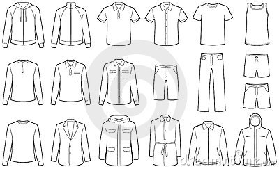 Men S Clothes Vector Illustrations Stock Images Image