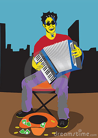 A men with accordion