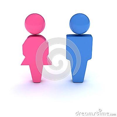 Free Men And Women Symbol Stock Photo - 2518910