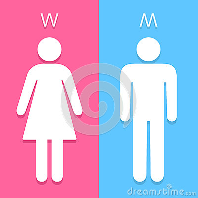 Free Men And Women Toilet Sign Great For Any Use. Vector EPS10. Royalty Free Stock Photography - 48488757