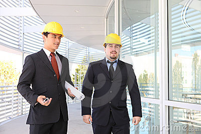 Men Architects on Construction Site