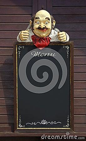 Menü-Attrappe