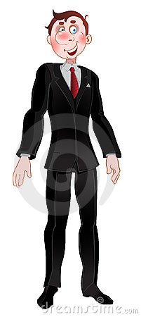 Men in black suit