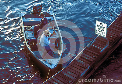 Men in boat fishing Editorial Stock Image