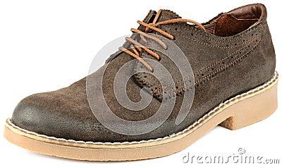 Men Brown Suede Shoe