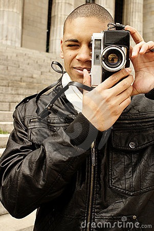 Men with camera