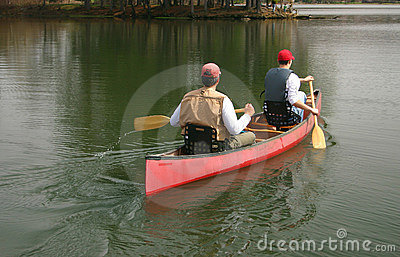 Men In A Canoe