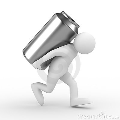 Men Carry Can On Back Stock Photos - Image: 11966863