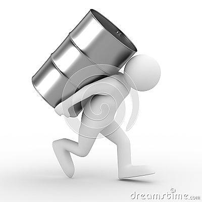 Men carry vat on back