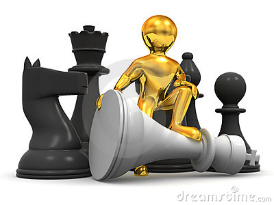 Men with chess