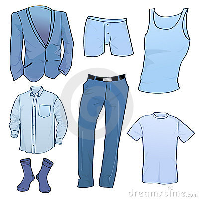 Men clothes icons