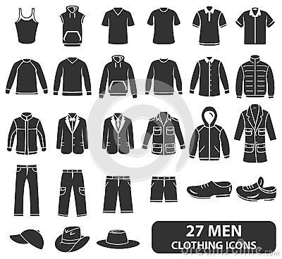 Free Men Clothing Icons Stock Photo - 35173960