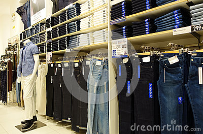 Men Clothing Shop Stock Photos - Image: 3978563