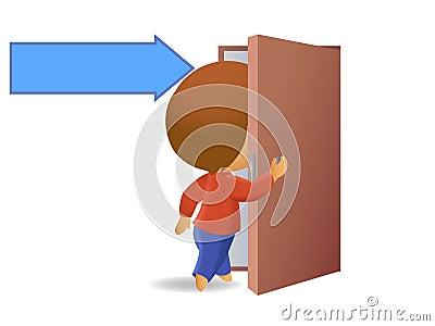 Men come in to the door