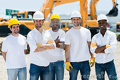 Men at a construction site
