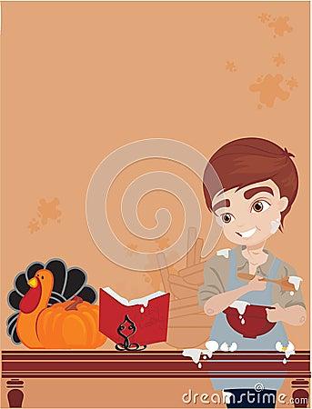 Men cooking for Thanksgiving