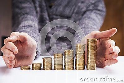 Men counting money! Studio shots