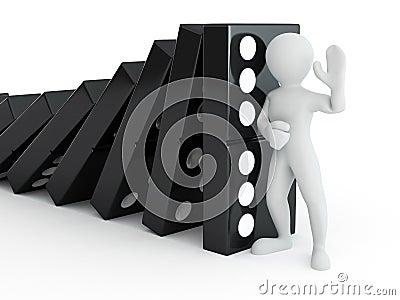 Men with domino