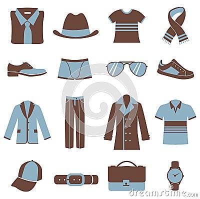 Free Men Fashion Icons Royalty Free Stock Photos - 13402888