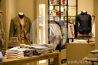 Men clothing fashion store interiors