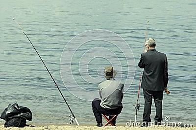 Men on the fishing