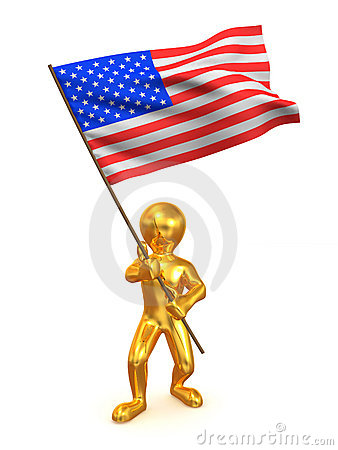 Men With Flag. USA Stock Photo - Image: 11198440