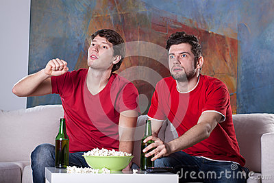 Men friends  home cinema