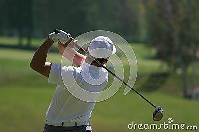 Men golf swing