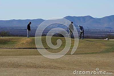 Men Golfing