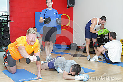Men gym training workout Editorial Image