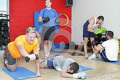 Men gym training workout Editorial Image