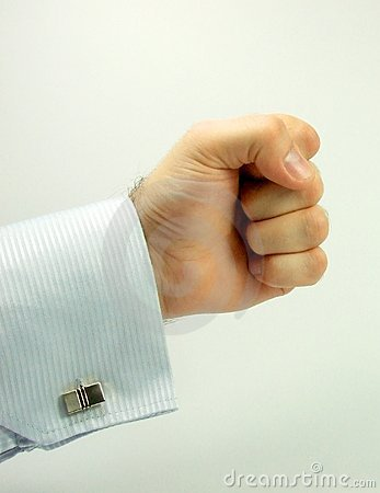 Men hand in punch