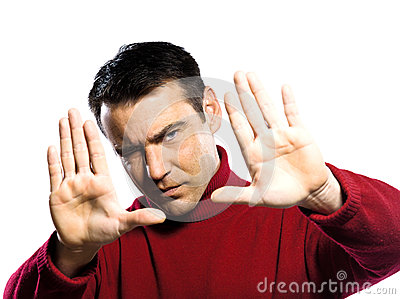 Men hands framing gesture